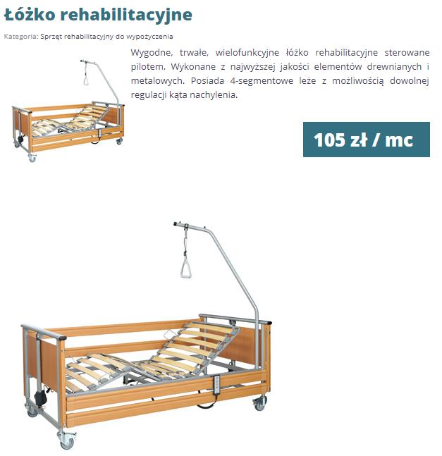 łóżko rehabilitacyjne rehabi-rehabi
