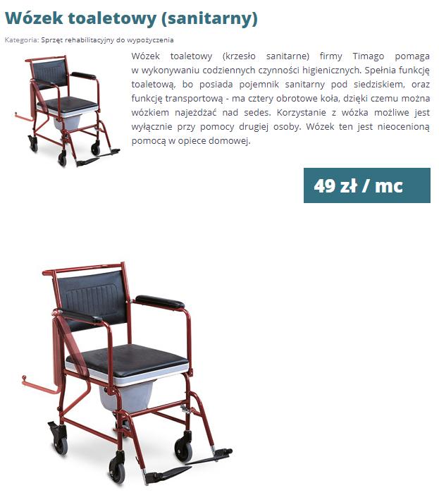 wózek toaletowy rehabi-rehabi