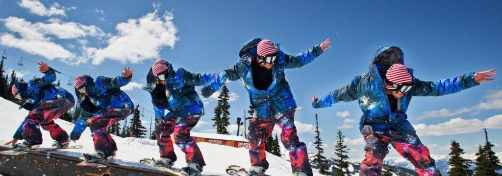 snowboardzista na boxie
