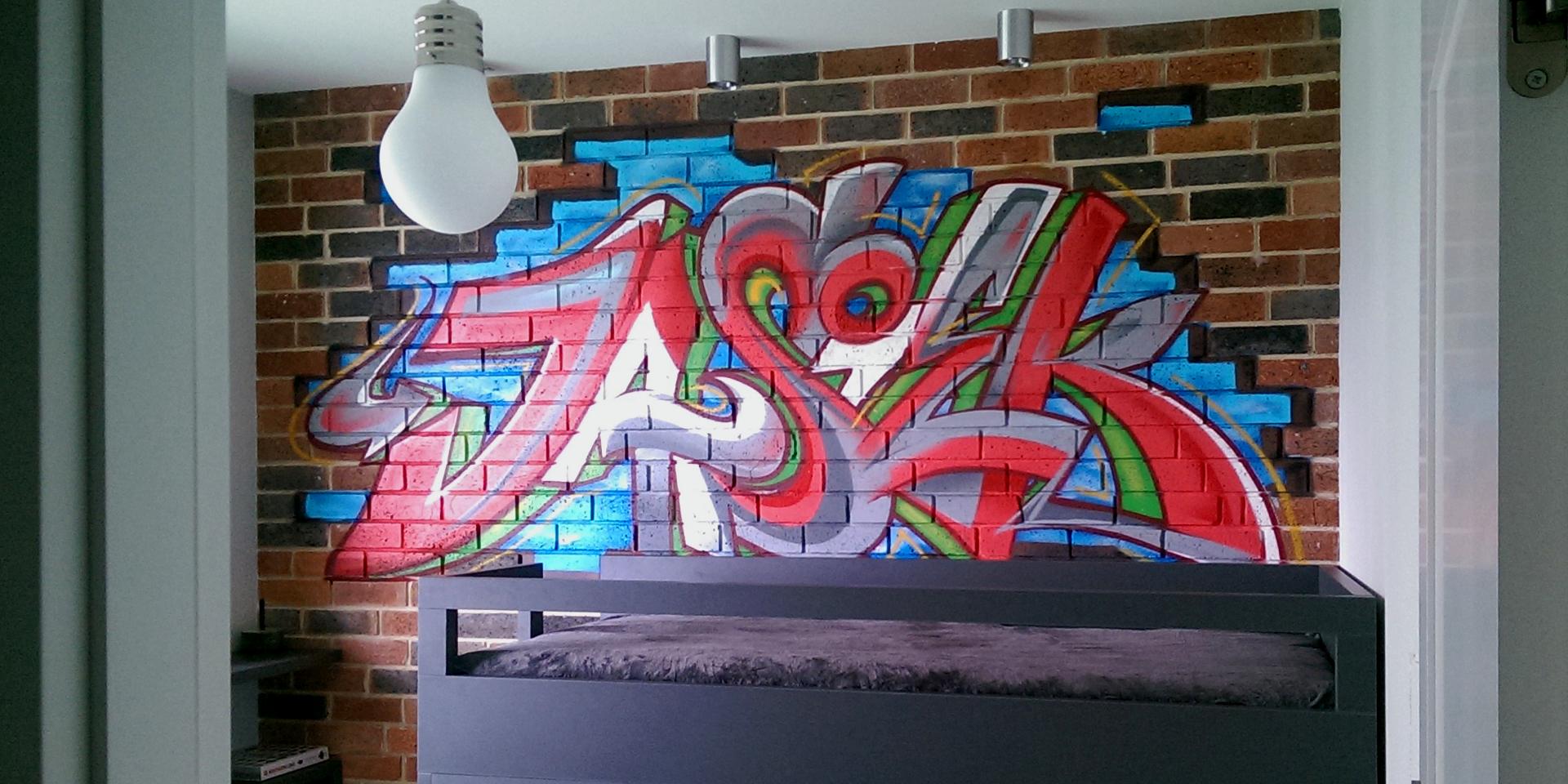 Graffiti na ścianie